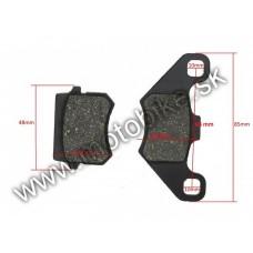 Brzdové platničky obloženie na ATV 110 125 200 250