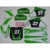 Nálepky na Pitbike Dirtbike zelené C2